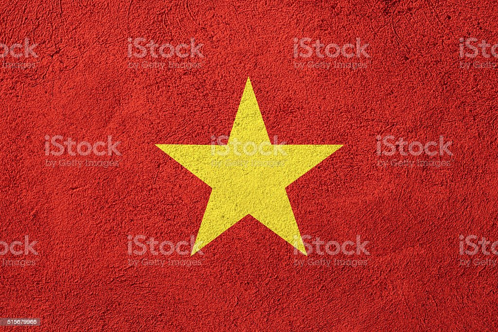 flag of Vietnam stock photo