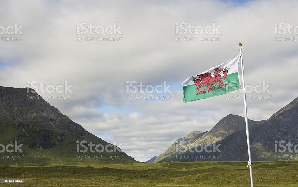 Flag of Wales royalty-free stock photo