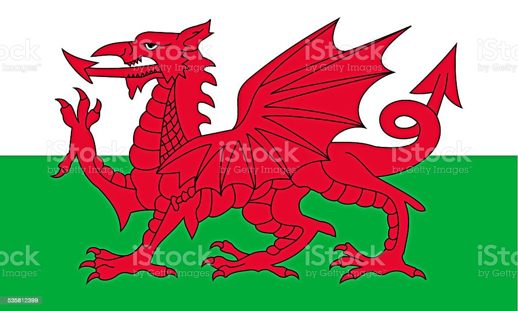 Flag of wales stock photo