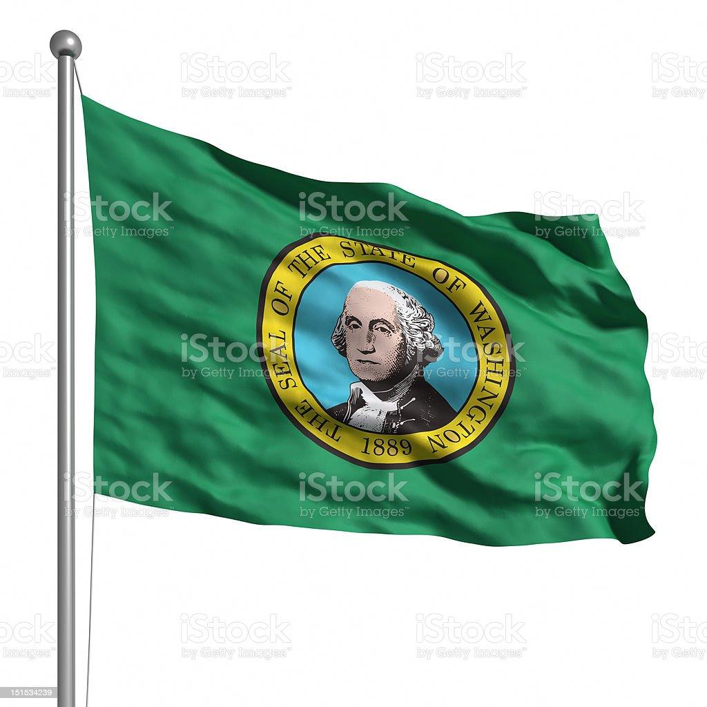 Flag of Washington (isolated) stock photo