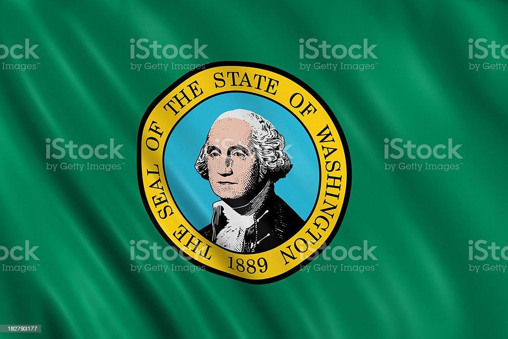 flag of washington royalty-free stock photo