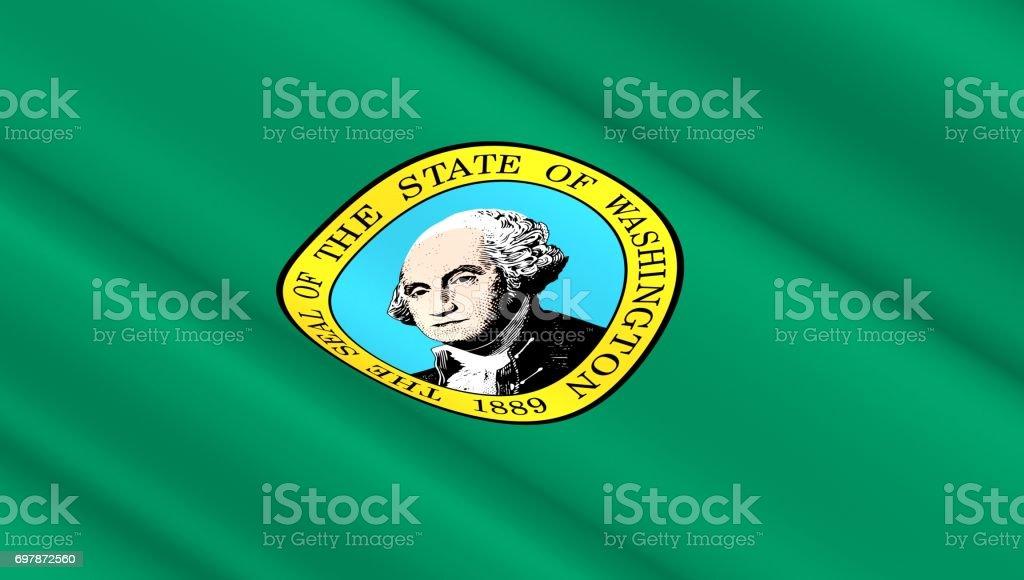 Flag of Washington state stock photo