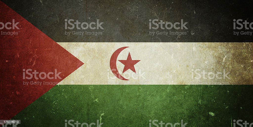 Flag of Western Sahara royalty-free stock photo
