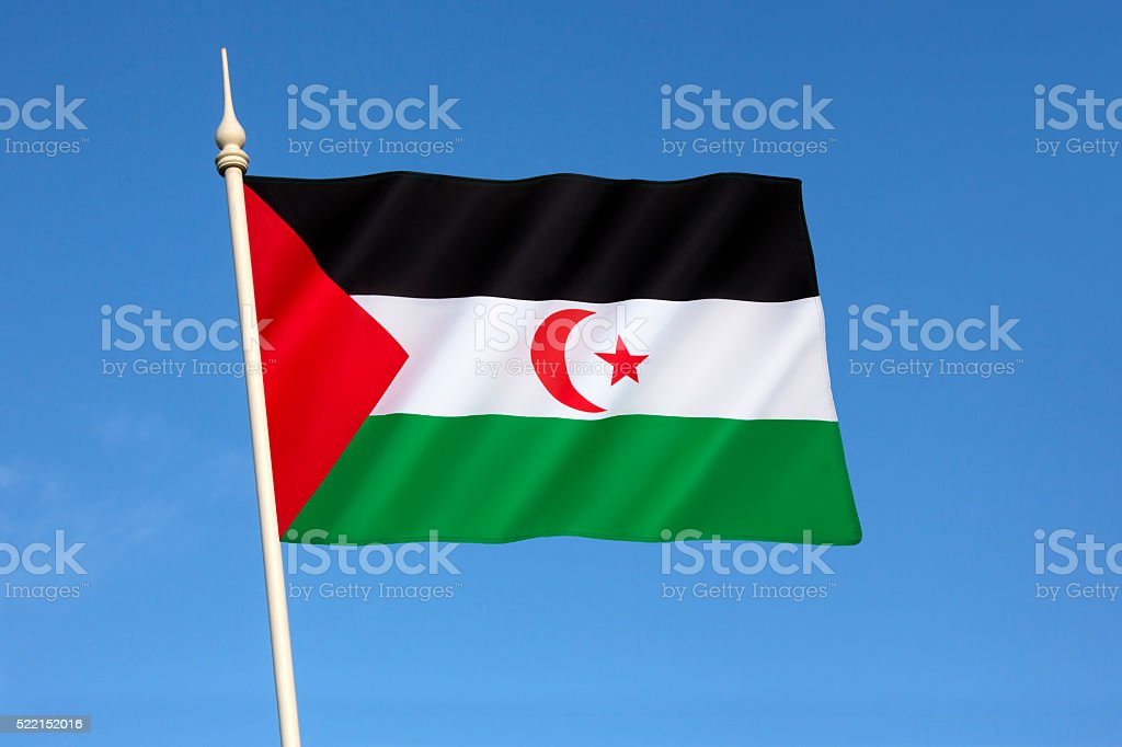 Flag of Western Sahara stock photo