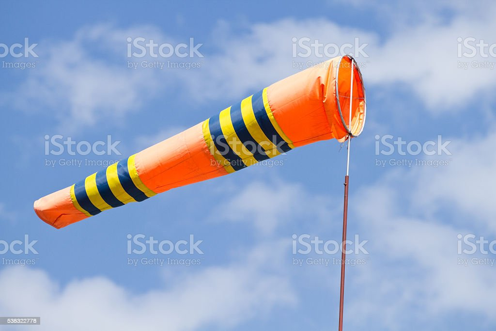 Flag of windsock stock photo