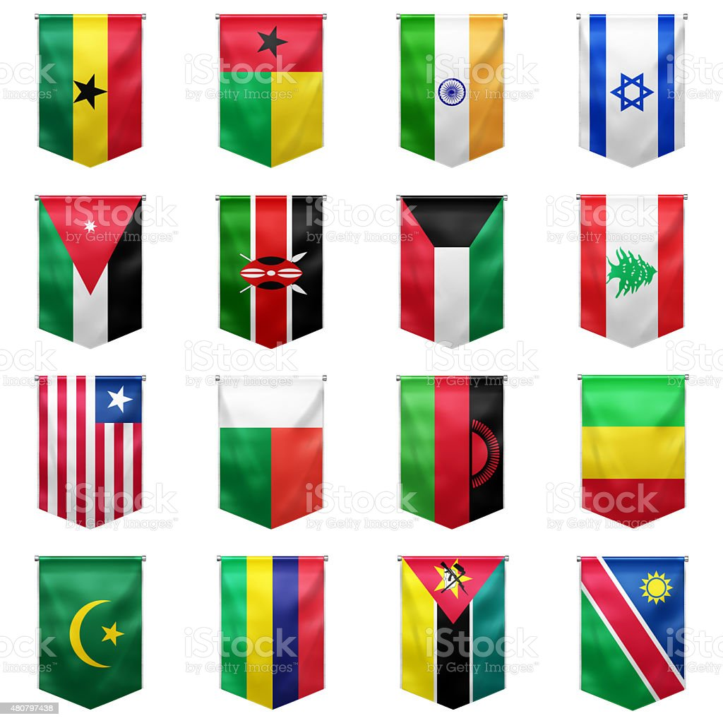 Flag of world_02 stock photo