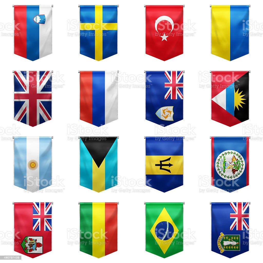 Flag of world_08 stock photo