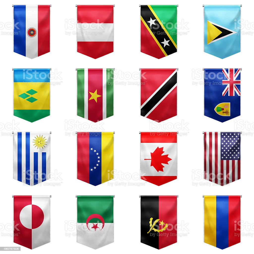 Flag of world_10 stock photo