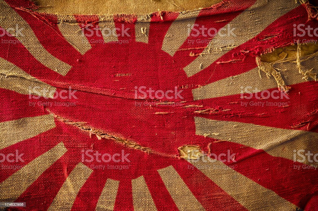 Flag of WW2 Japan royalty-free stock photo