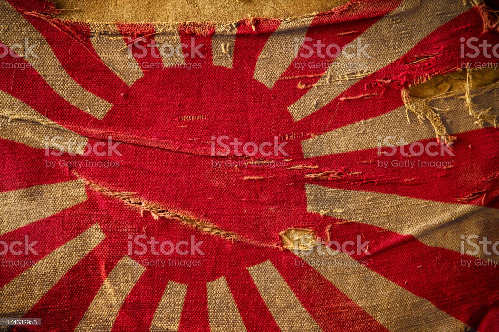 Flag of WW2 Japan royalty-free stock photo