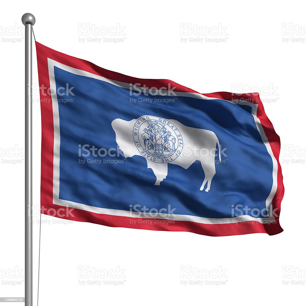 Flag of Wyoming (isolated) royalty-free stock photo