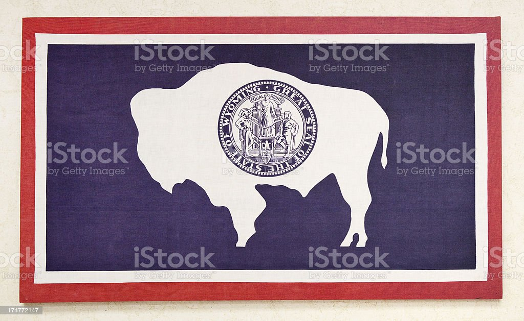 Flag of Wyoming, USA royalty-free stock photo