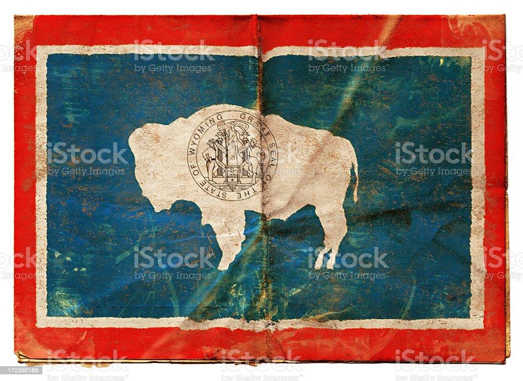 Flag of Wyoming XXL stock photo