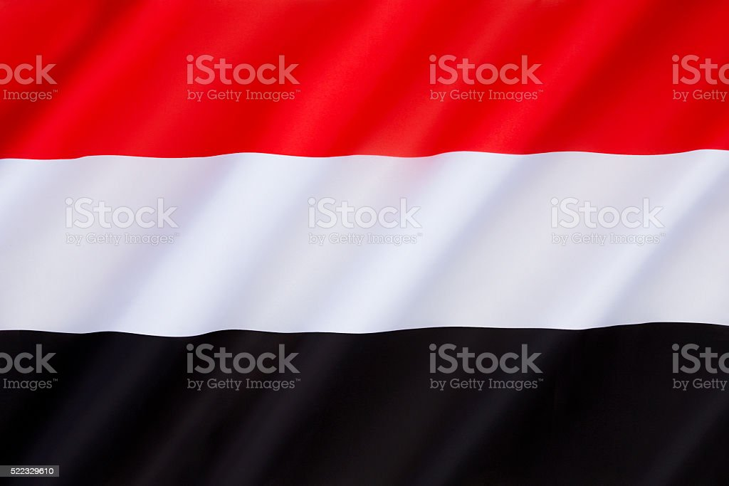 Flag of Yemen stock photo