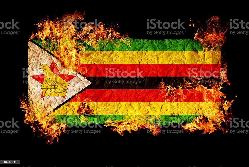 Flag of Zimbabwe royalty-free stock photo