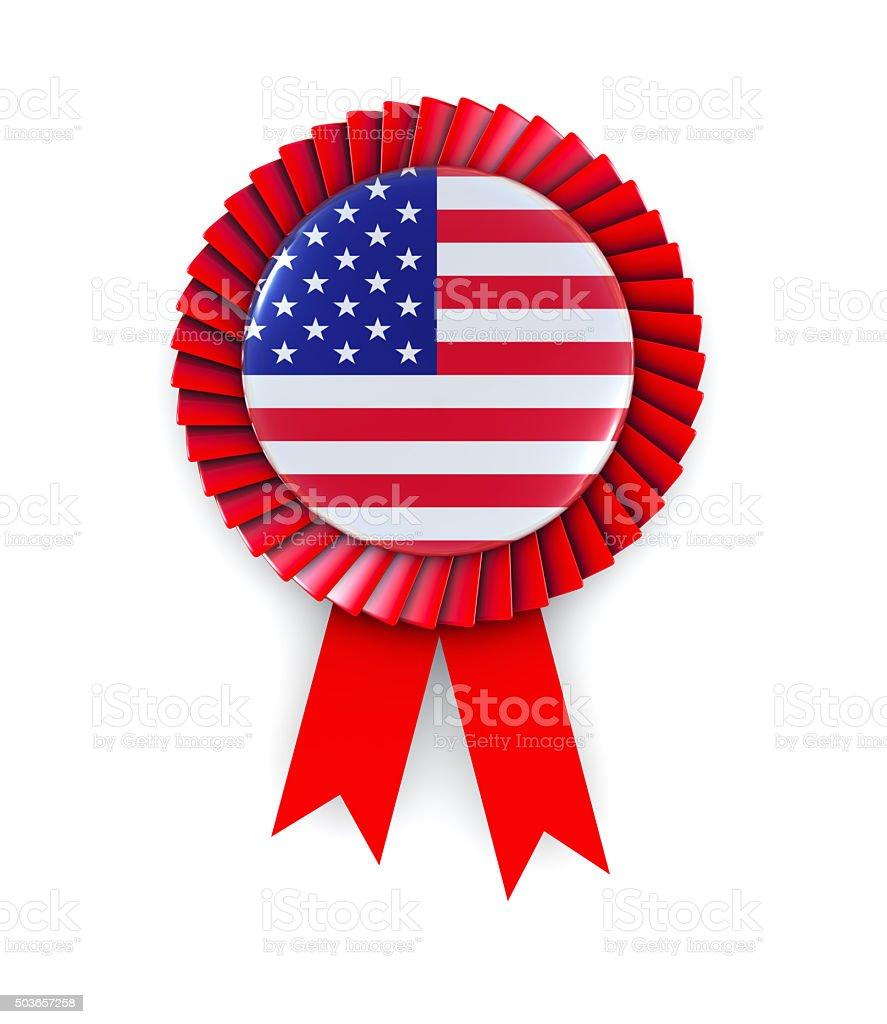 USA Flag on Cockade stock photo