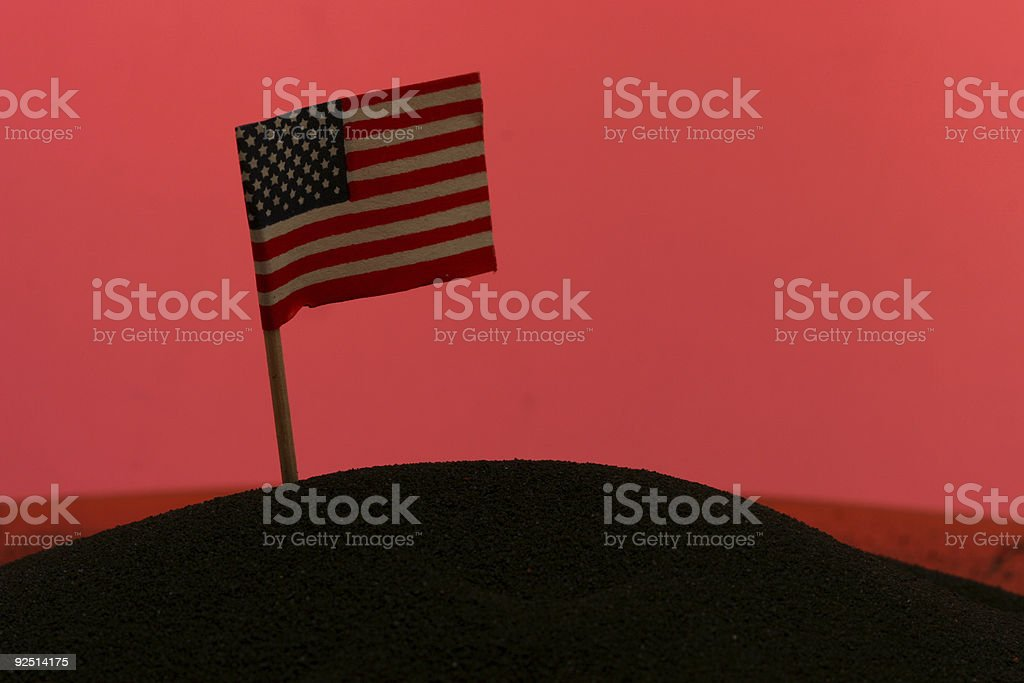Flag on Mars royalty-free stock photo