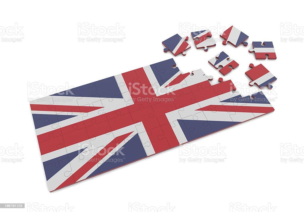 UK Flag on Puzzle royalty-free stock photo