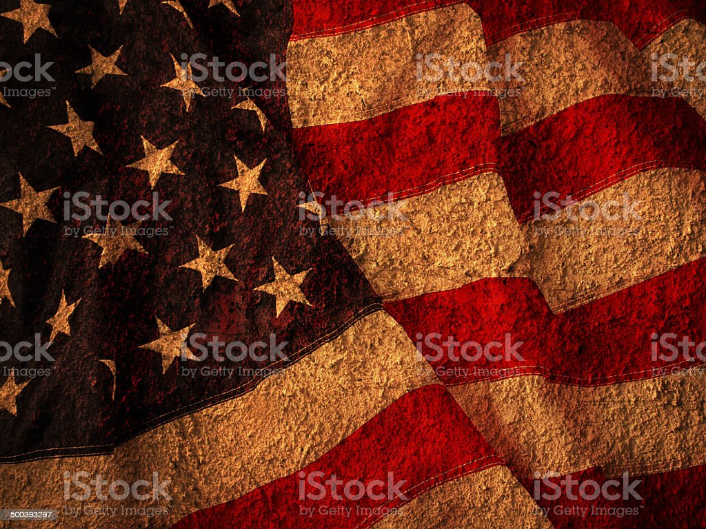 USA Flag on texture stock photo