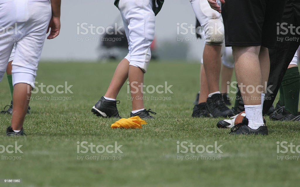 Flag On The Play! (American Football) royalty-free stock photo