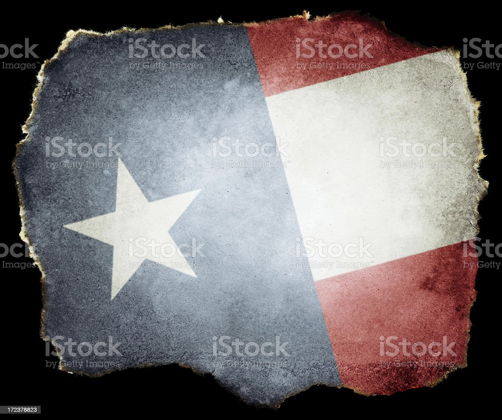 USA Flag on Torn Paper (Clipping Path; XXL) royalty-free stock photo