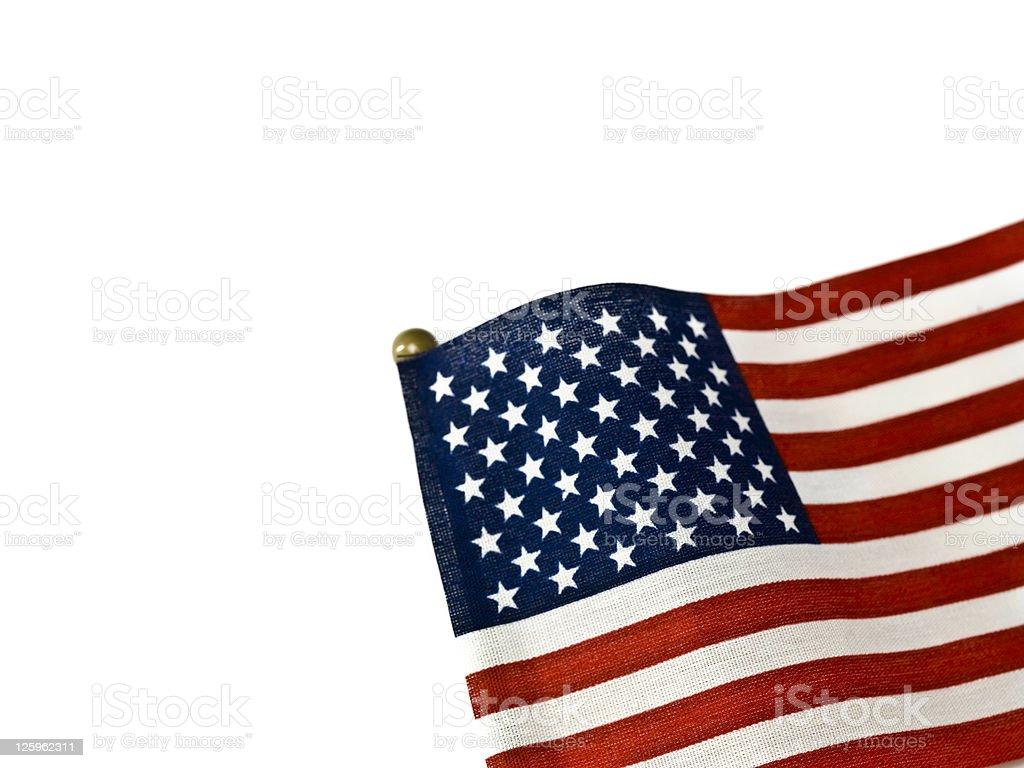 US flag on white royalty-free stock photo
