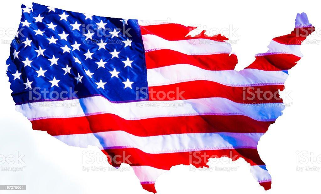 Flag over USA stock photo