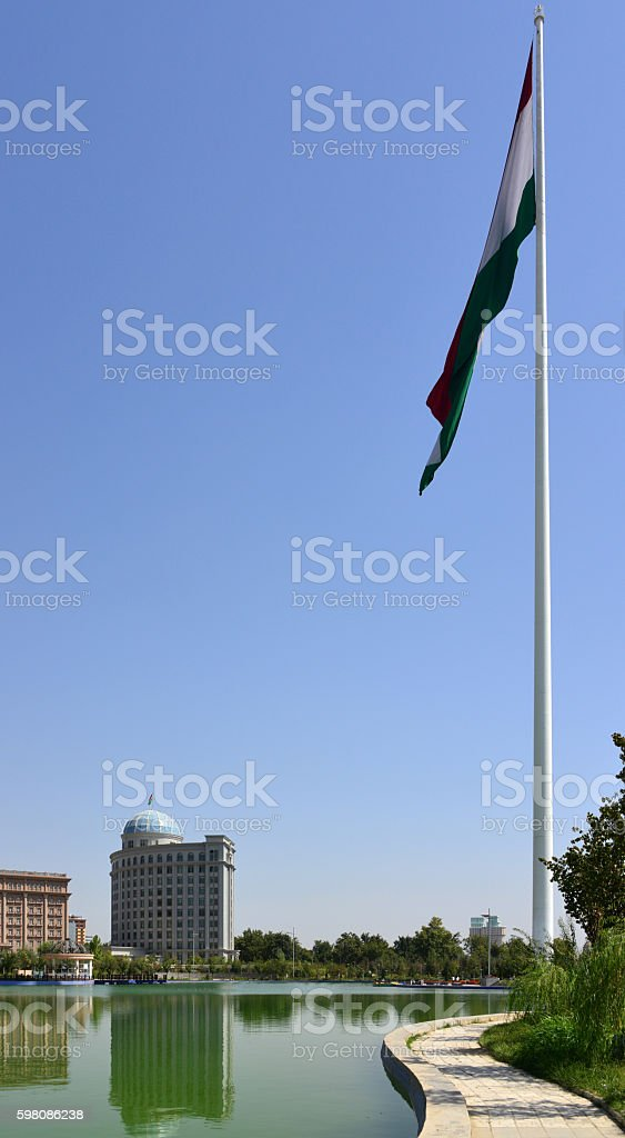 Flag park - Dushanbe, Tajikistan stock photo