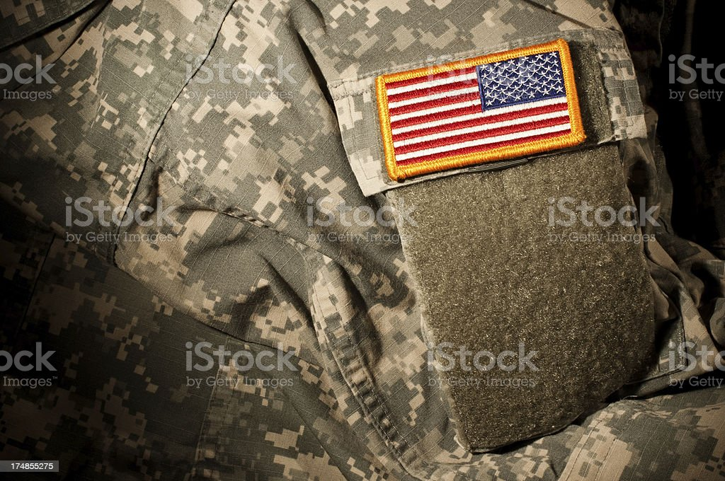 USA Flag Patch Close-up royalty-free stock photo