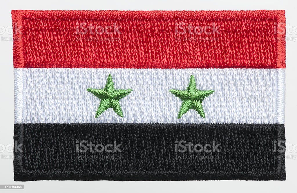 Flag Patch. stock photo