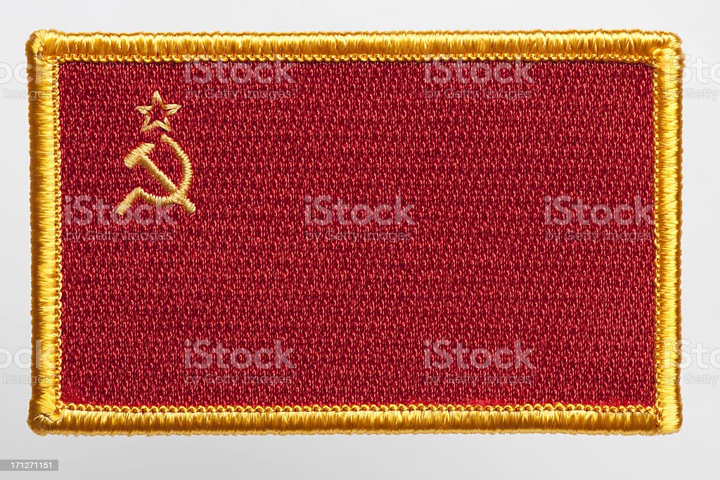 USSR flag patch stock photo