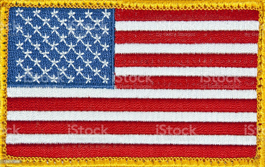 US Flag Patch stock photo