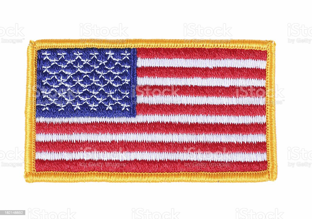 Flag Patch stock photo