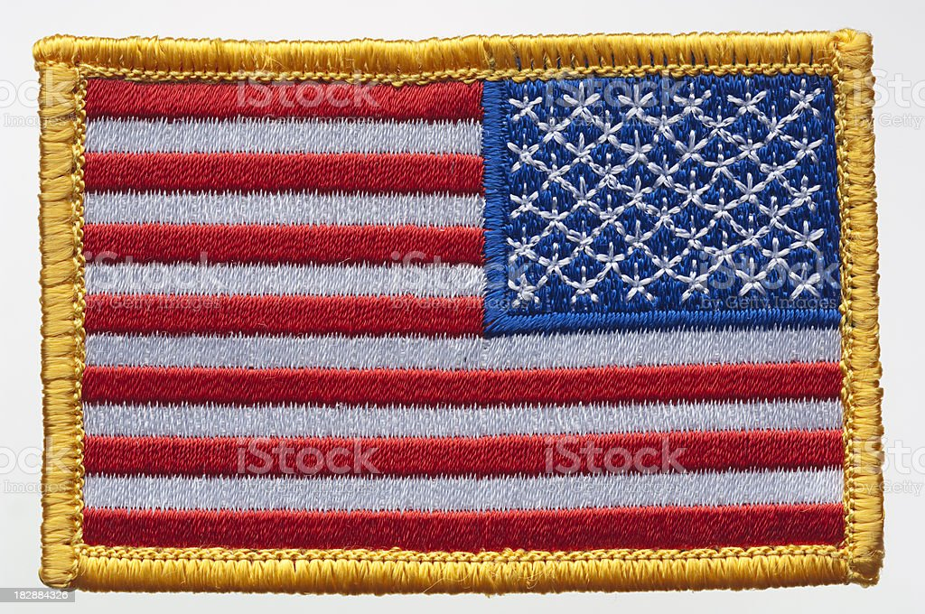 USA flag patch royalty-free stock photo