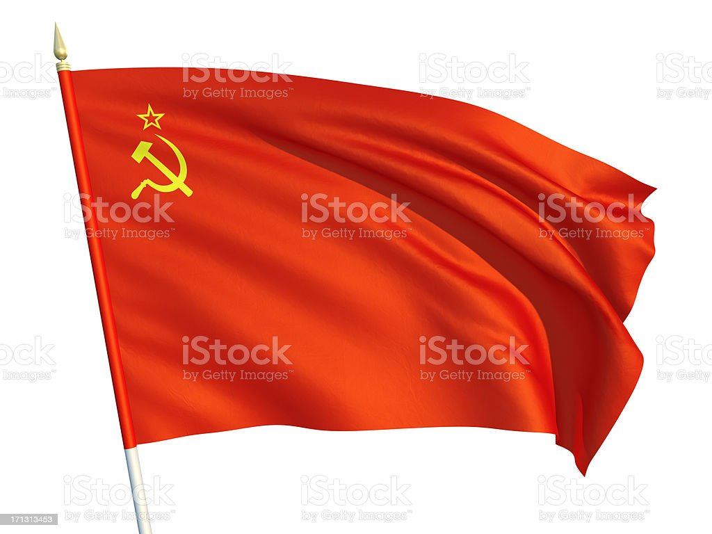 USSR flag stock photo