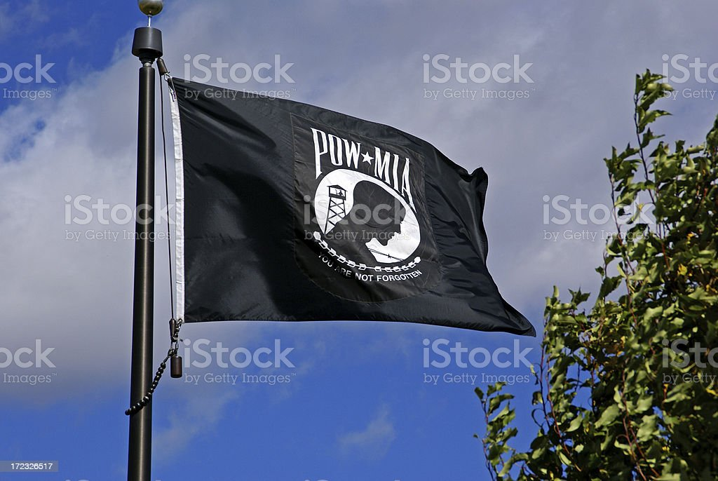 POW/MIA Flag stock photo