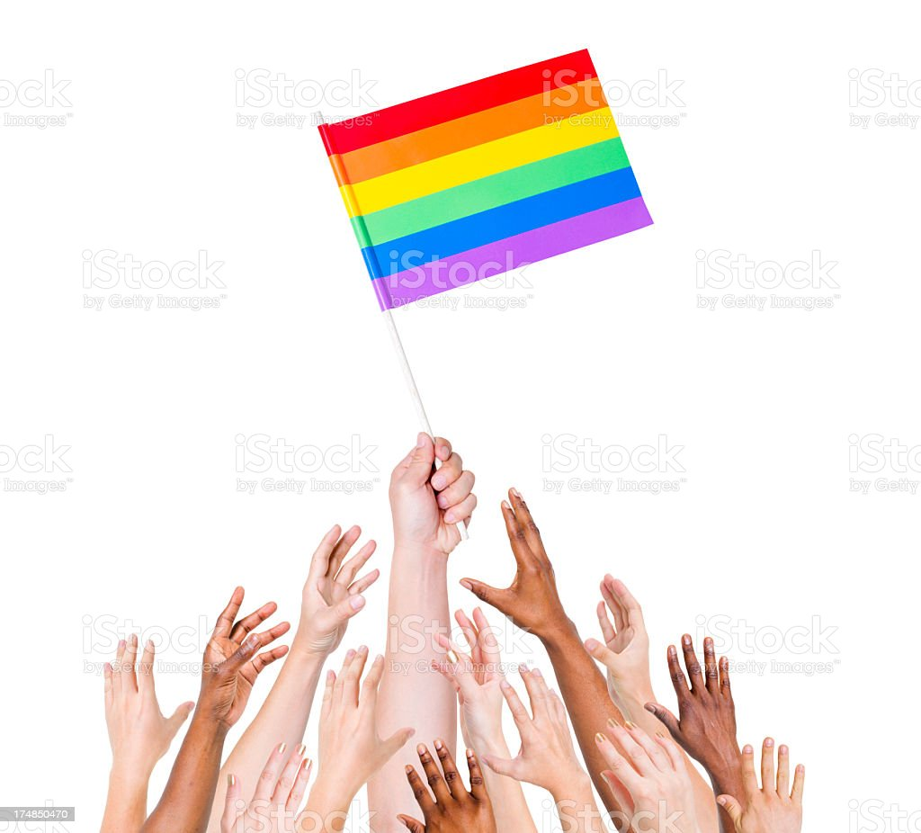 LGBT Flag royalty-free stock photo