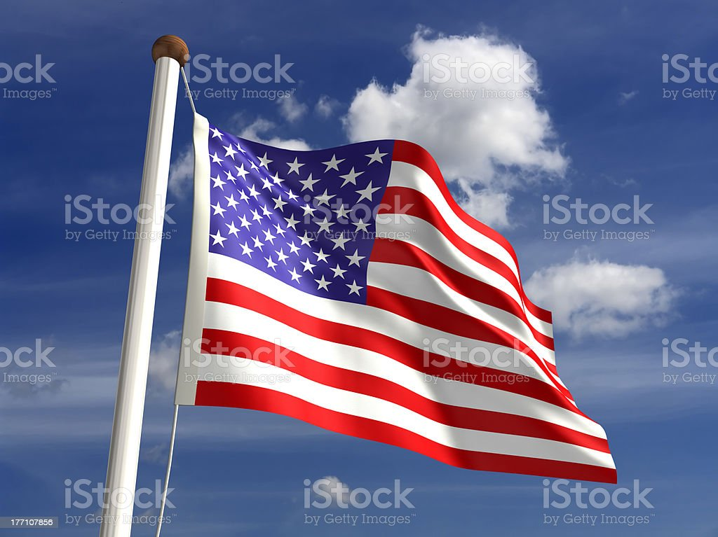USA flag (with clipping path) stock photo
