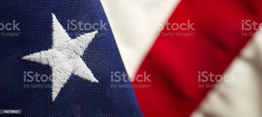 U.S.A. Flag royalty-free stock photo