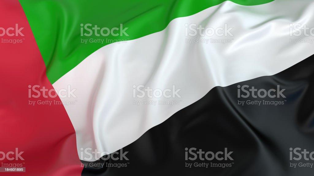 UAE flag royalty-free stock photo