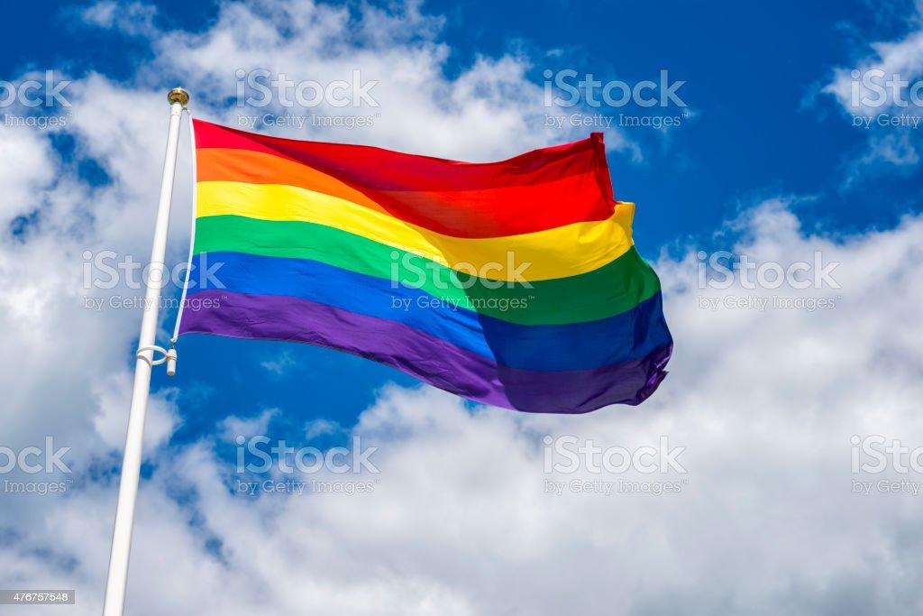 HBTQ flag stock photo