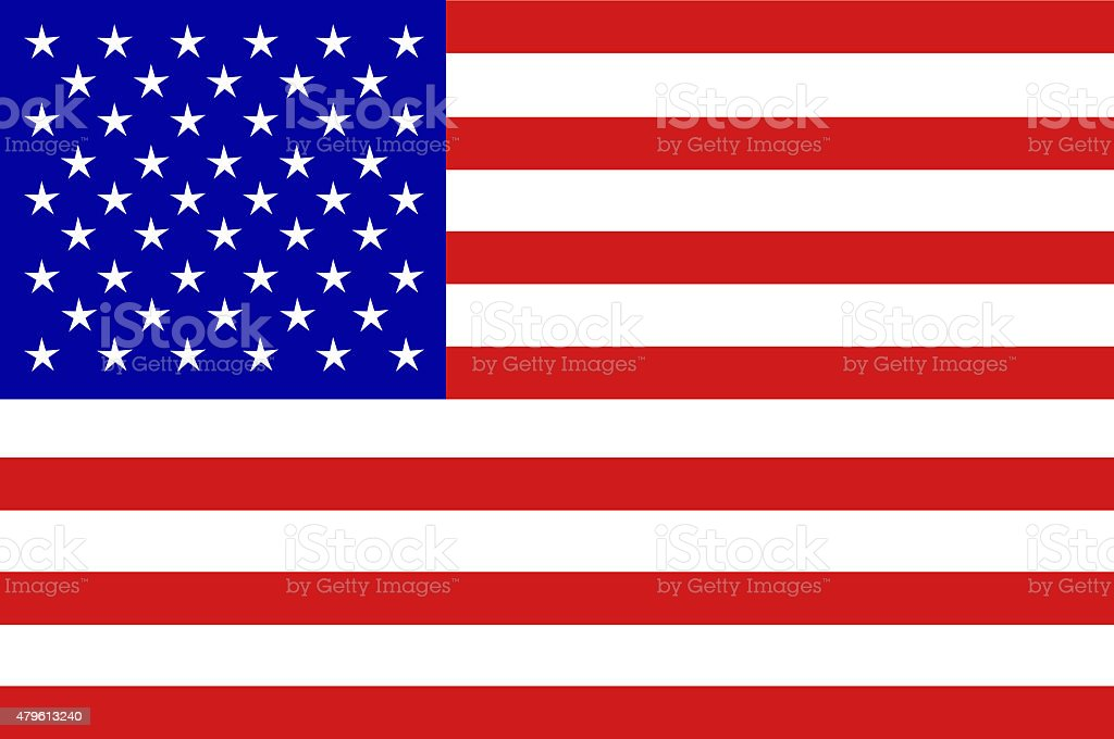 U.S.A  Flag stock photo