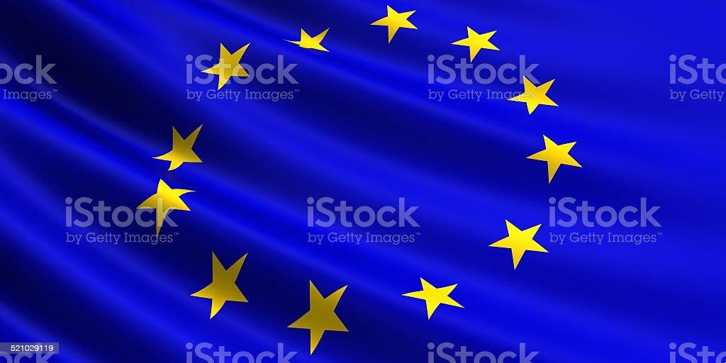 EU flag. royalty-free stock vector art