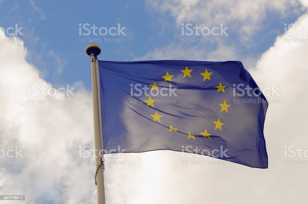 UE flag stock photo