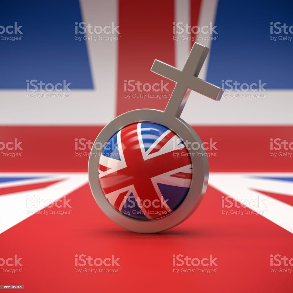 UK Flag stock photo