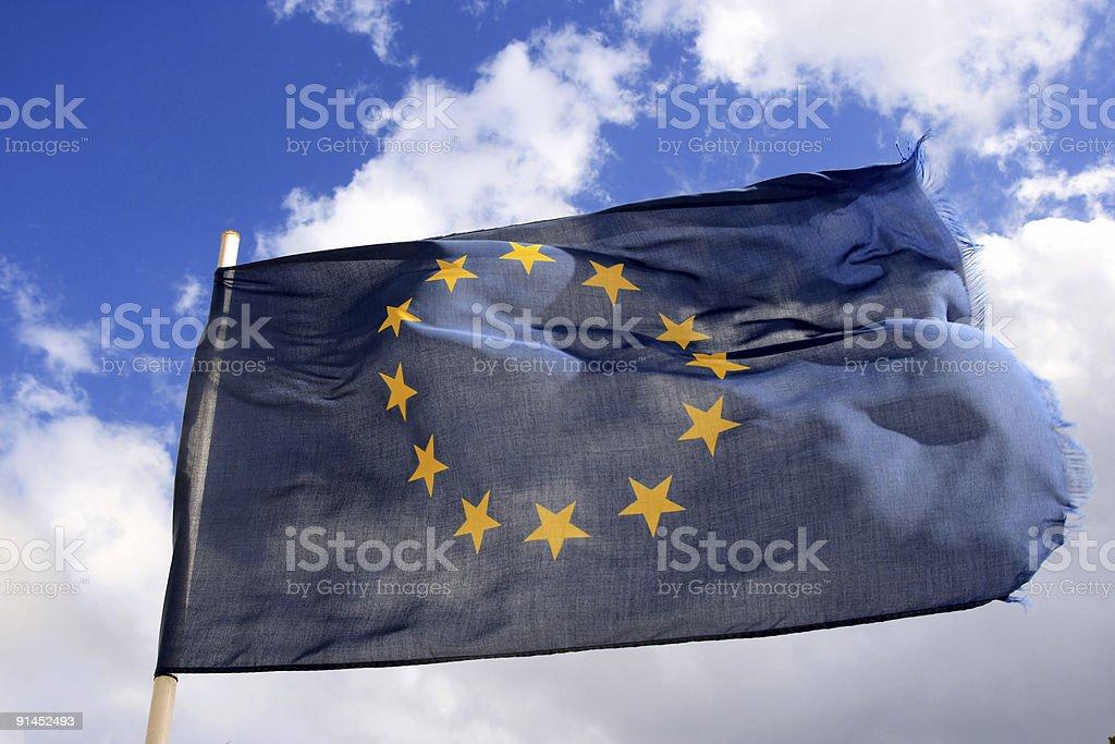 EU flag royalty-free stock photo