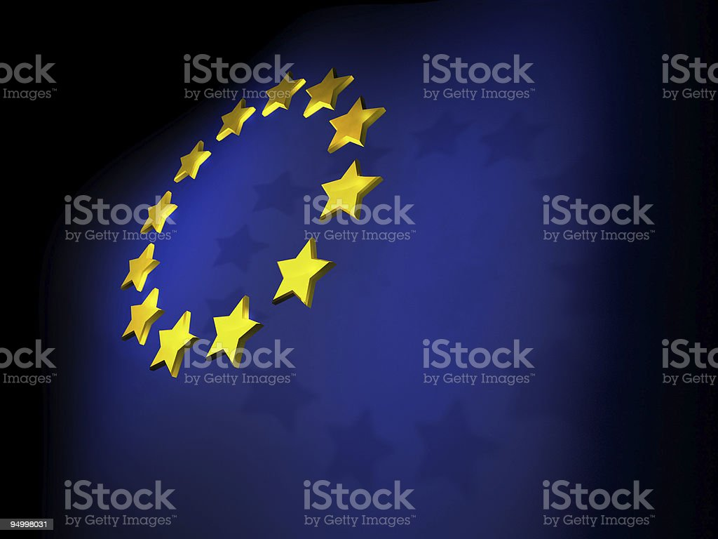 EU flag royalty-free stock photo