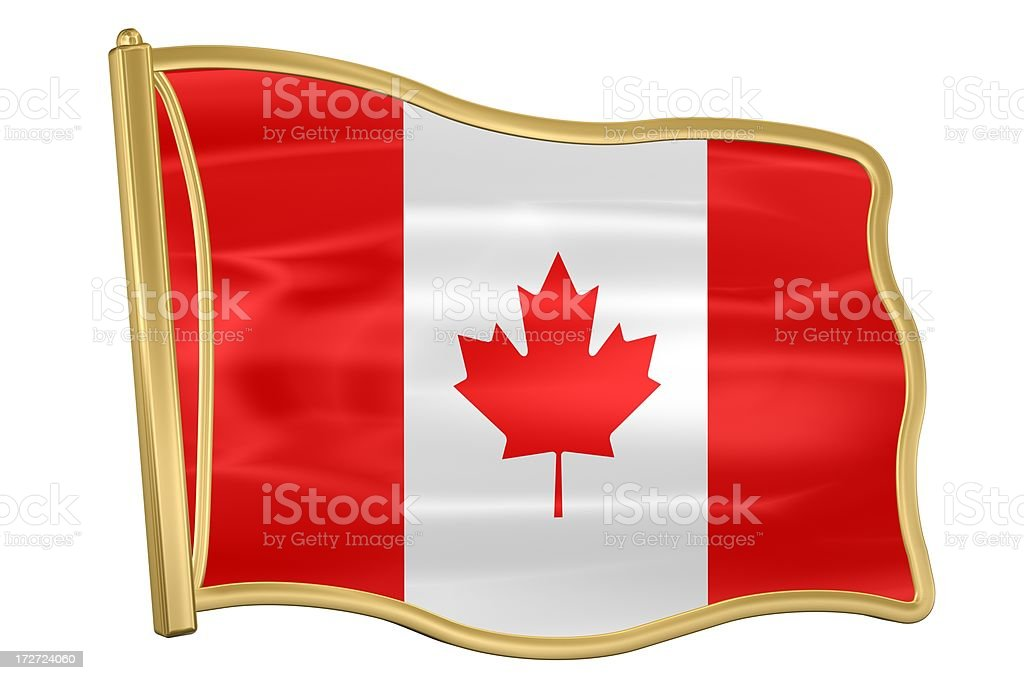 Flag Pin - Canada royalty-free stock photo