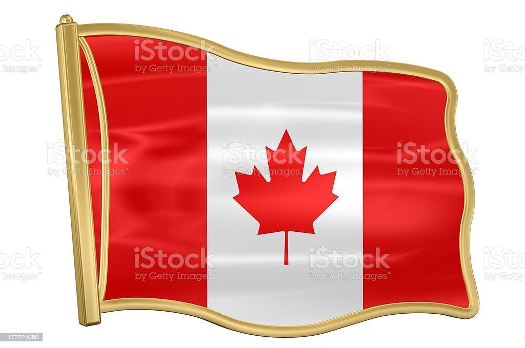Flag Pin - Canada stock photo