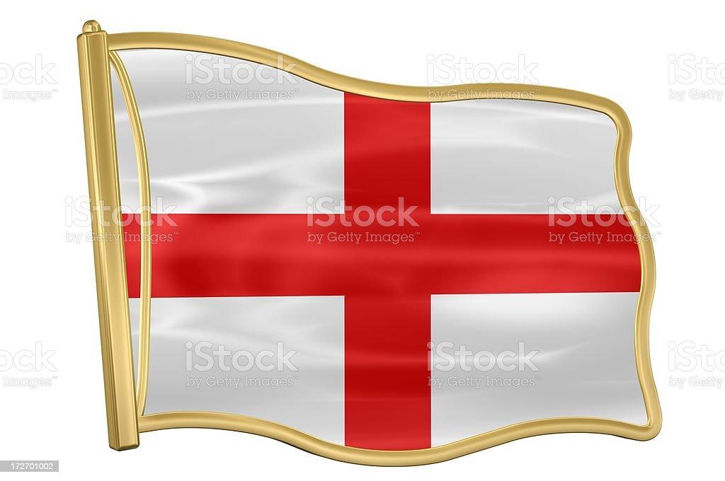 Flag pin - England royalty-free stock photo
